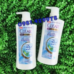 DẦU GỘI CLEAR BẠC HÀ THÁI LAN - CHAI 480ML